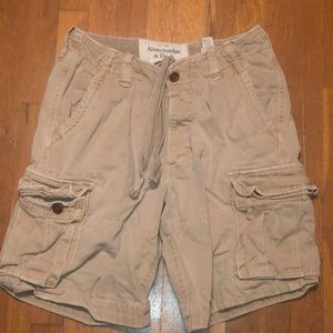 Men's tan Abercrombie and Fitch shorts
